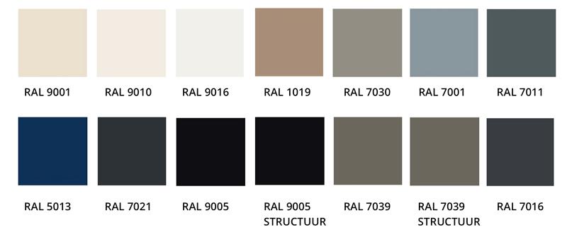 RAL kleuren Lamella raamdecoratie