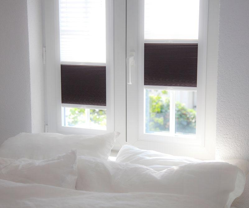 verduisterende raamdecoratie voor in de slaapkamer